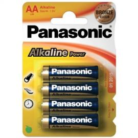 4 PILHAS AA ALCALINAS PANASONIC