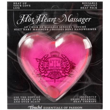 MASSAJADOR HOT HEART MASSAGER MÉDIO ROSA