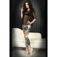 LEGGINGS CR-3456 CASTANHAS E PRETAS