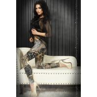 LEGGINGS CR-3456 BEGE E PRETAS