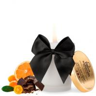 VELA BEIJÁVEL MELT MY HEART BIJOUX INDISCRETS CHOCOLATE PRETO E CITRINOS 70ML