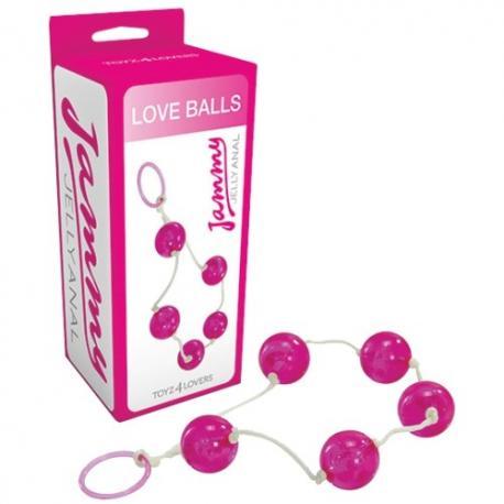 BOLAS ANAIS LOVE BALLS JAMMY JELLY ANAL ROSA