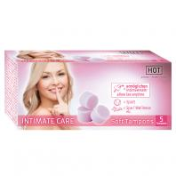 CAIXA COM 5 TAMPÕES HOT INTIMATE CARE SOFT TAMPONES