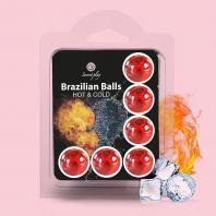 BOLAS LUBRIFICANTES BRAZILIAN BALLS EFEITO FRIO E CALOR 6 x 4GR